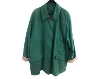 Vintage SCHNEIDERS ® Salzburg Town Country green women coat jacket size 18 Pamina