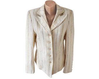 Vintage Scarva Woman women blazer ivory