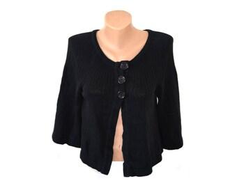 Vintage Completo ® Collection women black waistcoat vest top