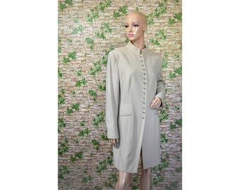 Vintage Mark women coat blazer beige