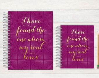 Wedding Journal, Wedding notebook, custom Wedding journal, Personalized Bridal journal, Personalized journal, Whom the soul loves