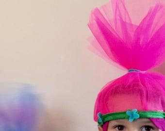 Trolls Princess Poppy Crown ~ Trolls Hair Headband ~ Troll Costume ~ Trolls Birthday Party ~ Princess Poppy Hair - Poppy Halloween Costume