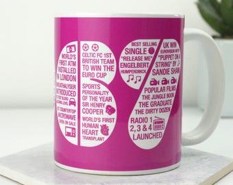 50th Birthday Mug / 1967 / Memories / 50th