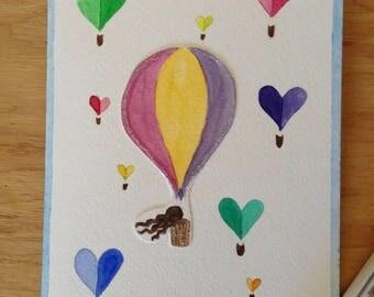 Hot air ballon fantasy card