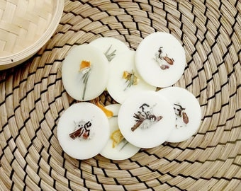 Scent of Interior bio - scented pads x 4 - soy wax 100% natural - organic essential oils - Organic perfume - Handmade