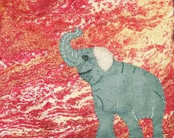 Handmade Elephant  Cushion Cover