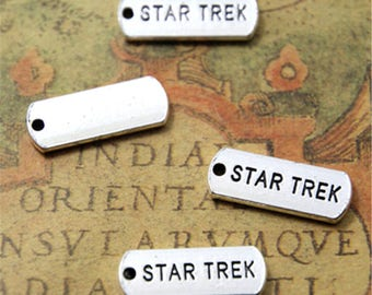15pcs star trek Charms silver tone star trek Charms pendants 21x8mm ASD2179