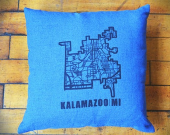 Kalamazoo Map (Blue)