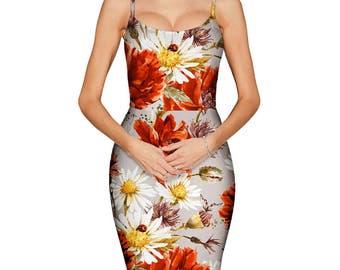 Spring Floral Pencil Dress