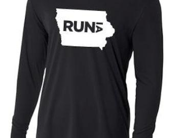 Men's Run Iowa Long Sleeve Shirt