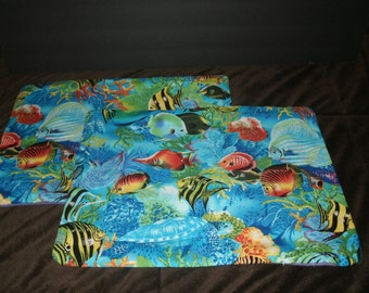 Set of 2 Fish Placemats