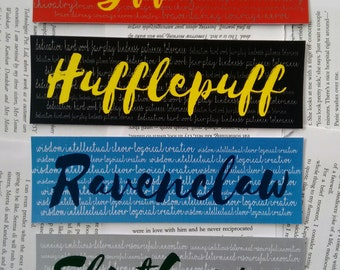 Hogwarts House Bookmarks from Harry Potter Series
