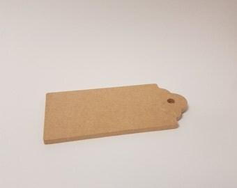 10.5x5cm Fancy Tag - Plain MDF Board