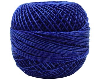 10 Pcs Blue Cotton Crochet Thread, Sewing Thread, Knitting Embroidery Thread, Yarn Tatting Skeins Crafts Supplies MT89A