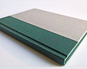 Green/Grey Notebook Paper Cover