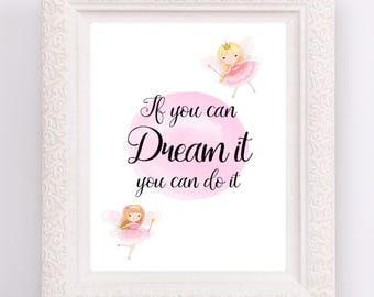 If You Can Dream It Do Nursery Print Fairy