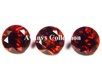 10 Piece Natural Garnet Loose Gemstone Faceted Cut Round shape Loose Stone High Quality