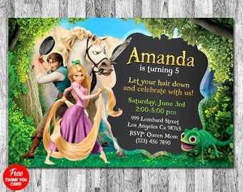 Tangled Invitation, Rapunzel Invitation, Tangled Birthday Invitation, Rapunzel Birthday Invitation, Tangled Printables, Tangled Party Invite