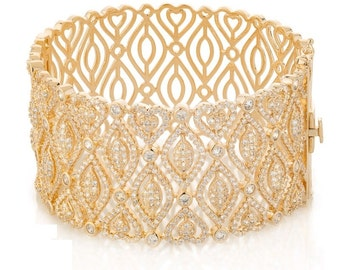 Vintage bracelet, Goldfield 14 k 3 micro jewelry with great care.zircon aaa Amazing bracelet for every occasion