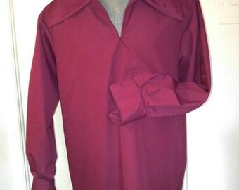 Medieval shirt for man bourgogne Burgundy Medieval Shirt for men