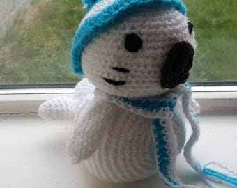 Amigurumi seal with hat and scarf