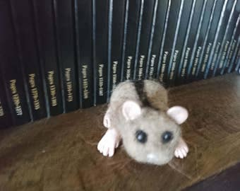 OOAK Handmade Needle felted pet Hamster, Polymer clay