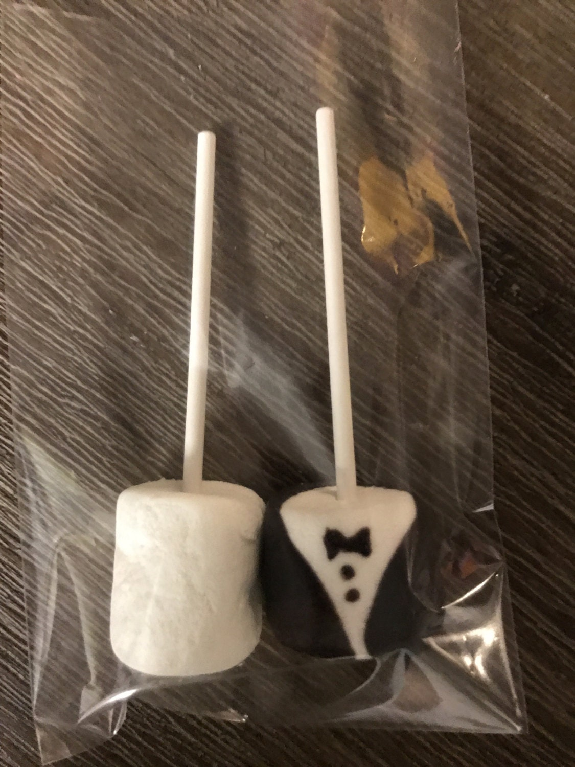 50 Bride and Groom Chocolate Covered Marshmallow bridal wedding favors
