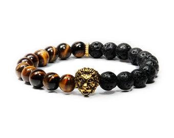 Premium Gold Lion Head Bracelet
