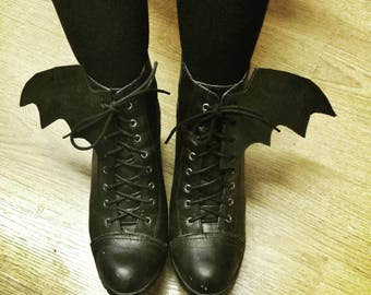 Custom Leather Bat Wings for Boots