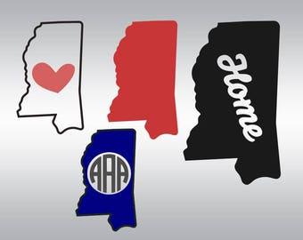 Mississippi svg, Mississippi State svg, Mississippi state outline svg, Vinyl, SVG Files, Cricut, Cameo, Cut file, Clipart, Svg, DXF, Png,Eps