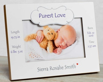 Personalized Baby Picture Frame, Baby Girl Picture Frame, New Baby Girl Frame, Baby Girl Frame, Baby Girl Birth Frame, Baby Frame For Girls