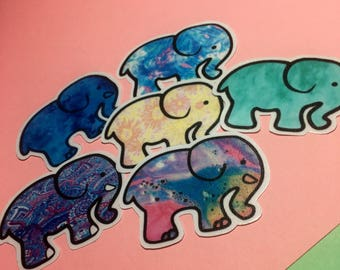 elephant stickers set #2