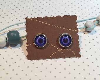 """Earrings cabochon """"Eye"""" eye"""""""