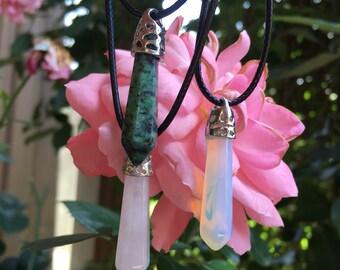 Stone pendants •