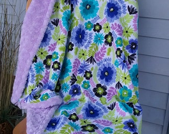 Baby Blanket, Baby Wrap, Blanket, Baby Quilt, Baby Throw, Purple Baby Blanket