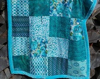 Baby Blanket, Baby Quilt, Lap Quilt, Pieced Quilt, Quilt, Blanket, Throw, Blue Quilt