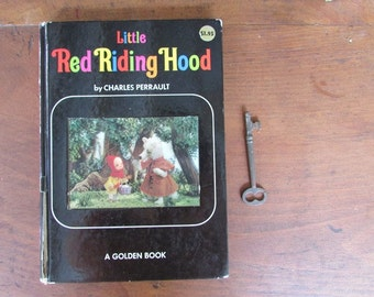 Little Red Riding Hood Vintage Puppet Storybook Classic Fairy Tale Picture Book Perrault