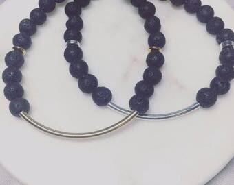 Gold or Silver Bar Bracelet