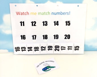 Learn numbers 11-20, Matching numbers, Pre-school, Early learning, EYFS, Nursery, Reception, Learning and school, home education