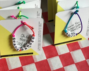 Customized kid letter bracelets