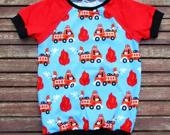 T-Shirt Gr. 110 short sleeve T-Shirt for boys and girls from great fire Jersey.Basic Donovan