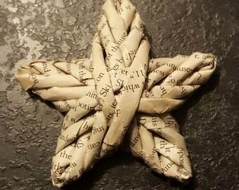 Woven star ornament - novel