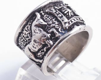Ox Erebuni V1  Sterling Silver Ring