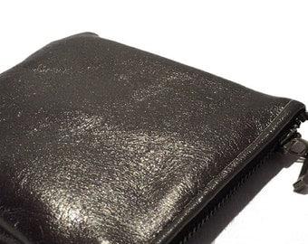 Leather wallet true color bronze