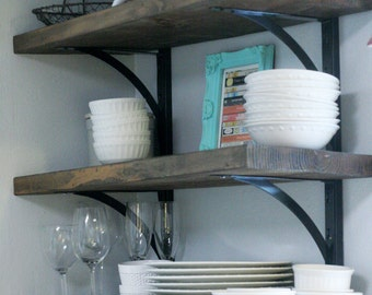 Rustic Kitchen Shelf Set