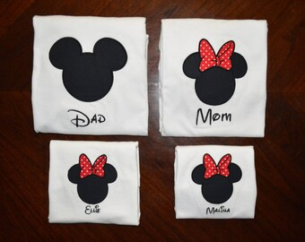 Mickey and Minnie Mouse Family Shirts