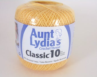 Maize - Aunt Lydia's Crochet Cotton Classic Size 10 yellow