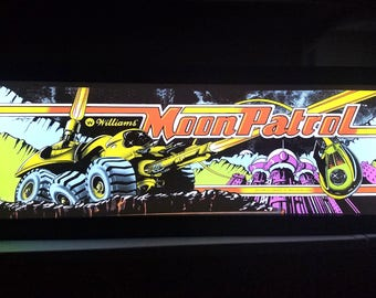 Moon Patrol Arcade Style Marquee Light Box