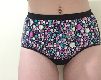 Highwaisted Doof Bloomers-Green/Silver/Purple/Pink