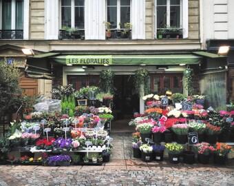 Paris Photography, Paris Wall Art, Les Floralies, Floral Wall Art Paris Flower Shop, French Decor, Rue Cler Photography, BonneRoutePhotos